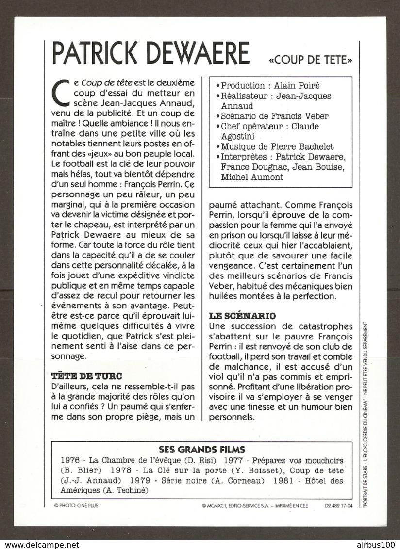 PORTRAIT DE STAR 1975 FRANCE - ACTEUR PATRICK DEWAERE Dans COUP DE TETE - ACTOR CINEMA FILM PHOTO - Fotos