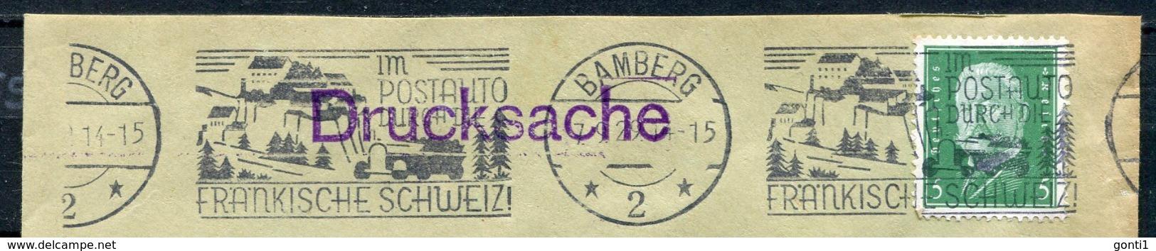 """German Empires Bamberg 1929 Firmen Bedarfsbrief Mit Mi.Nr.411 Und Kraftpost MWST"""" Bamberg-Im Postauto Durch.. """"1 Beleg - Post"""