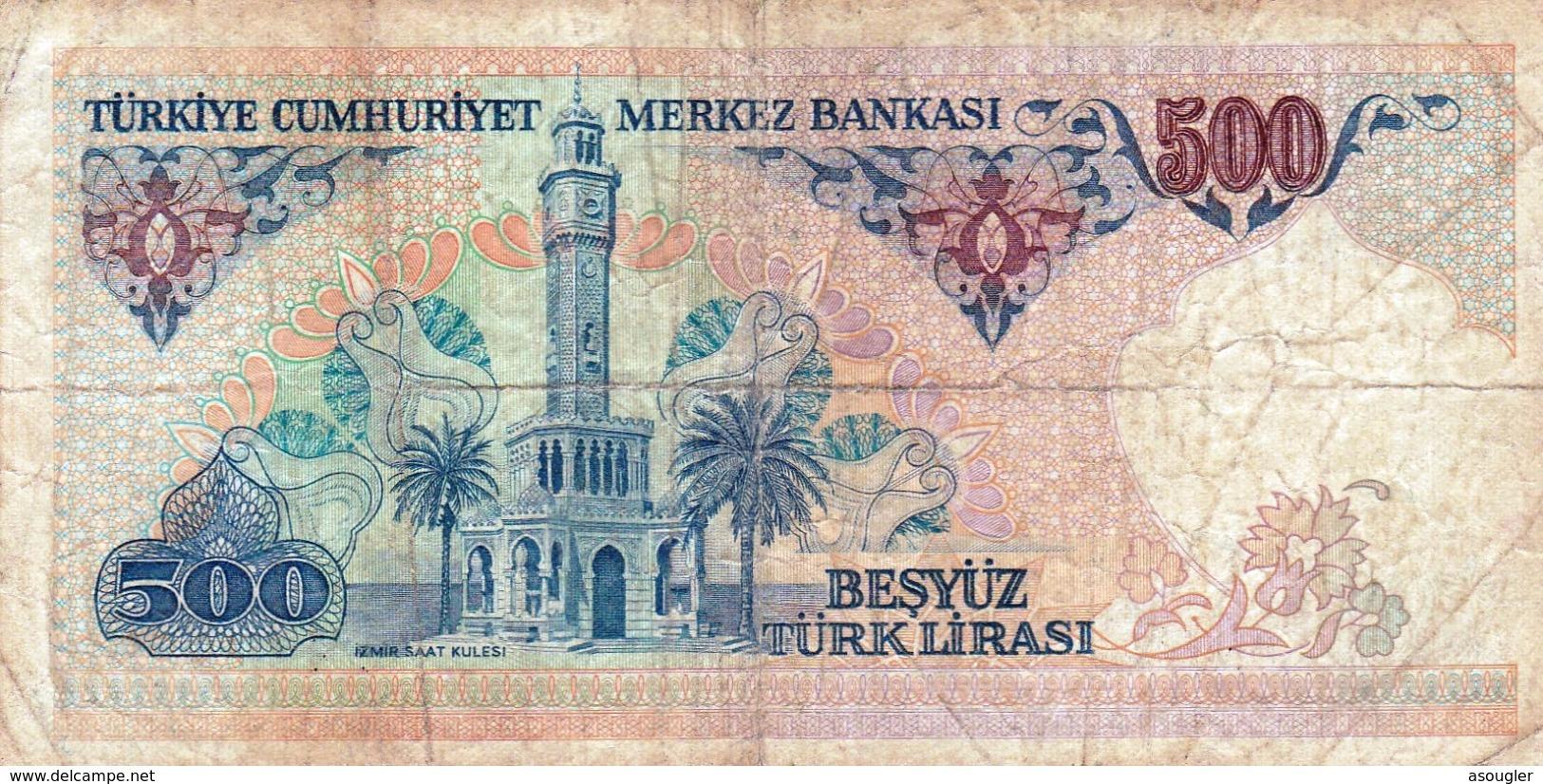 "TURKEY 500 LIRA 1970 (1983) F P-195 ""free Shipping Via Regular Air Mail (buyer Risk) - Turchia"
