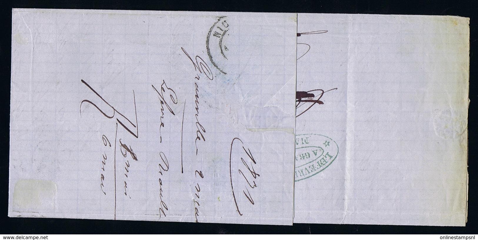 France Complete Letter Yv 46 B  3-5-1871 Granville -> Nice - 1870 Uitgave Van Bordeaux