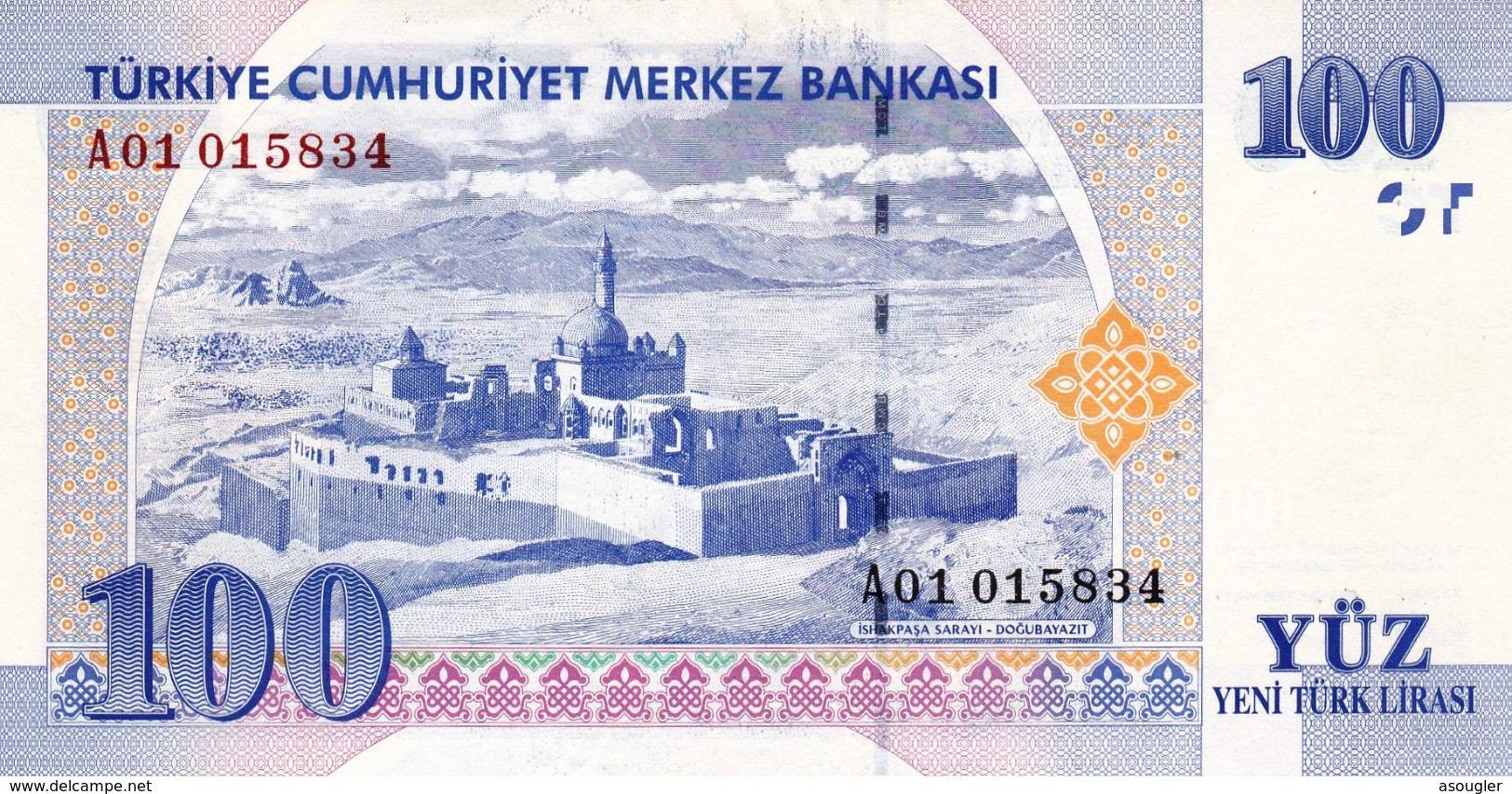 "TURKEY 100 LIRA 2005 PREFIX ""A"" UNC P-221 ""free Shipping Via Registered Air Mail"" - Turchia"