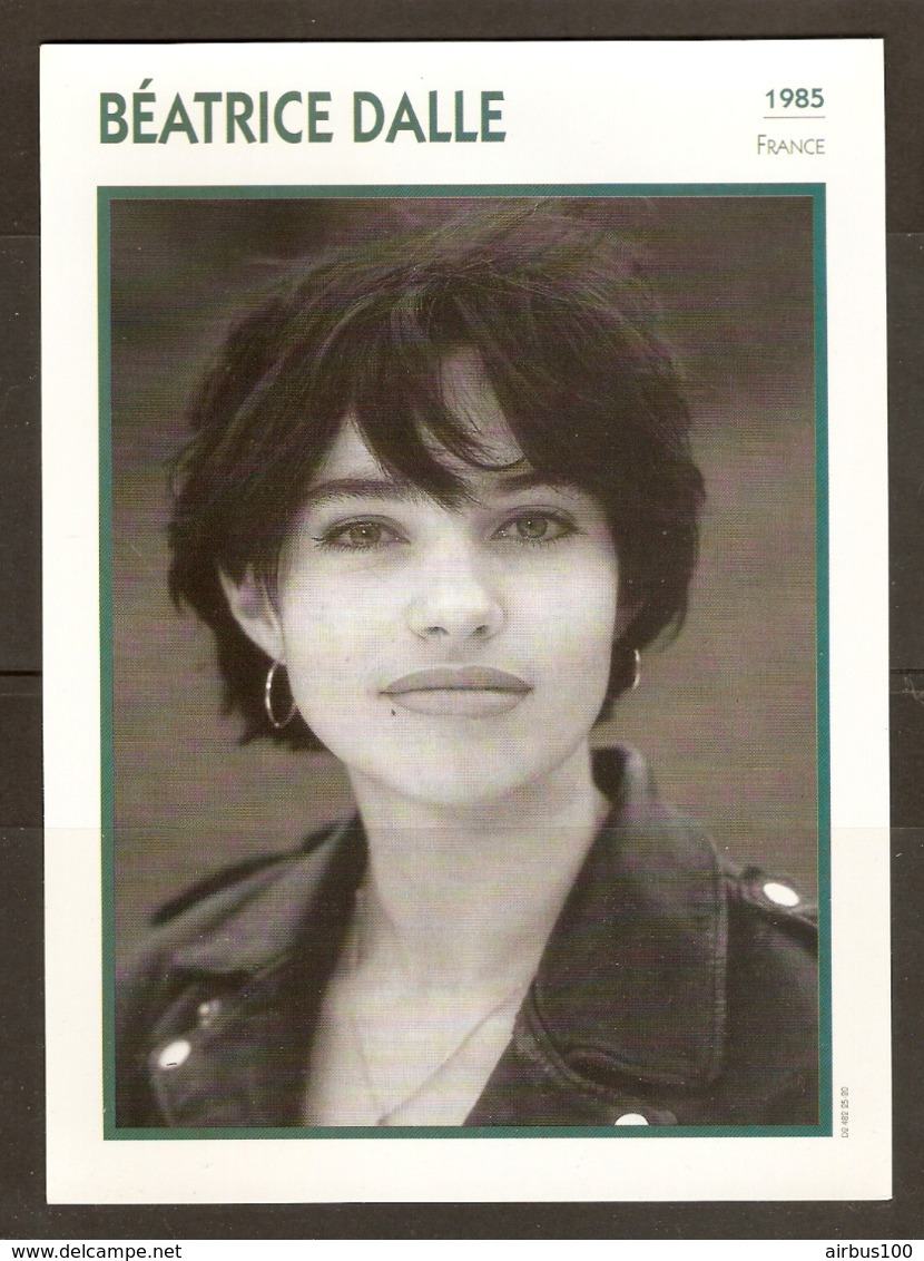 PORTRAIT DE STAR 1985 FRANCE - ACTRICE BÉATRICE DALLE - ACTRESS CINEMA FILM PHOTO - Fotos