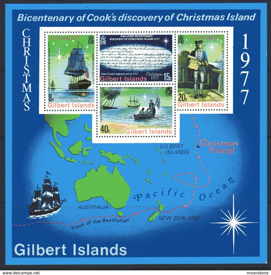 Gilbert Islands 1977 Christmas & Cook's Discovery MS, MNH, SG 59 (BP2) - Gilbert & Ellice Islands (...-1979)