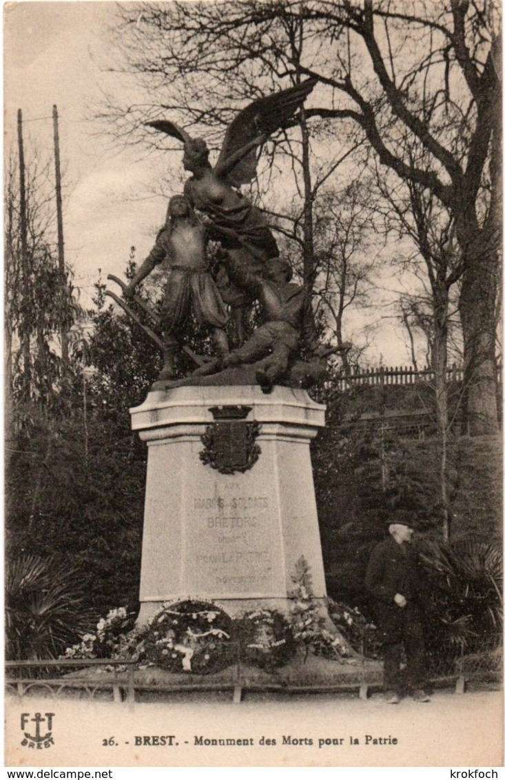 Brest  - Monument Des Morts Pour La Patrie - Marins Et Soldats Bretons - Imprimeries Réunies De Nancy N°26 - Brest