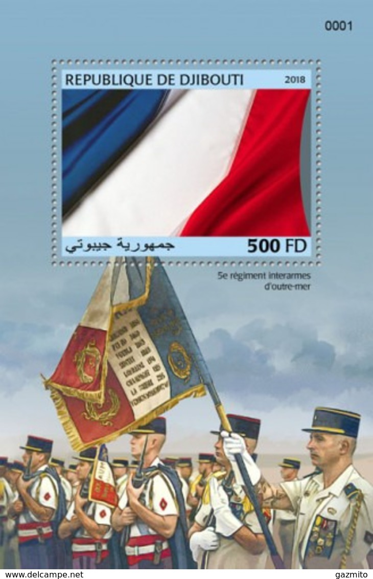 Djibouti 2018, French Army, Flag, BF - Francobolli