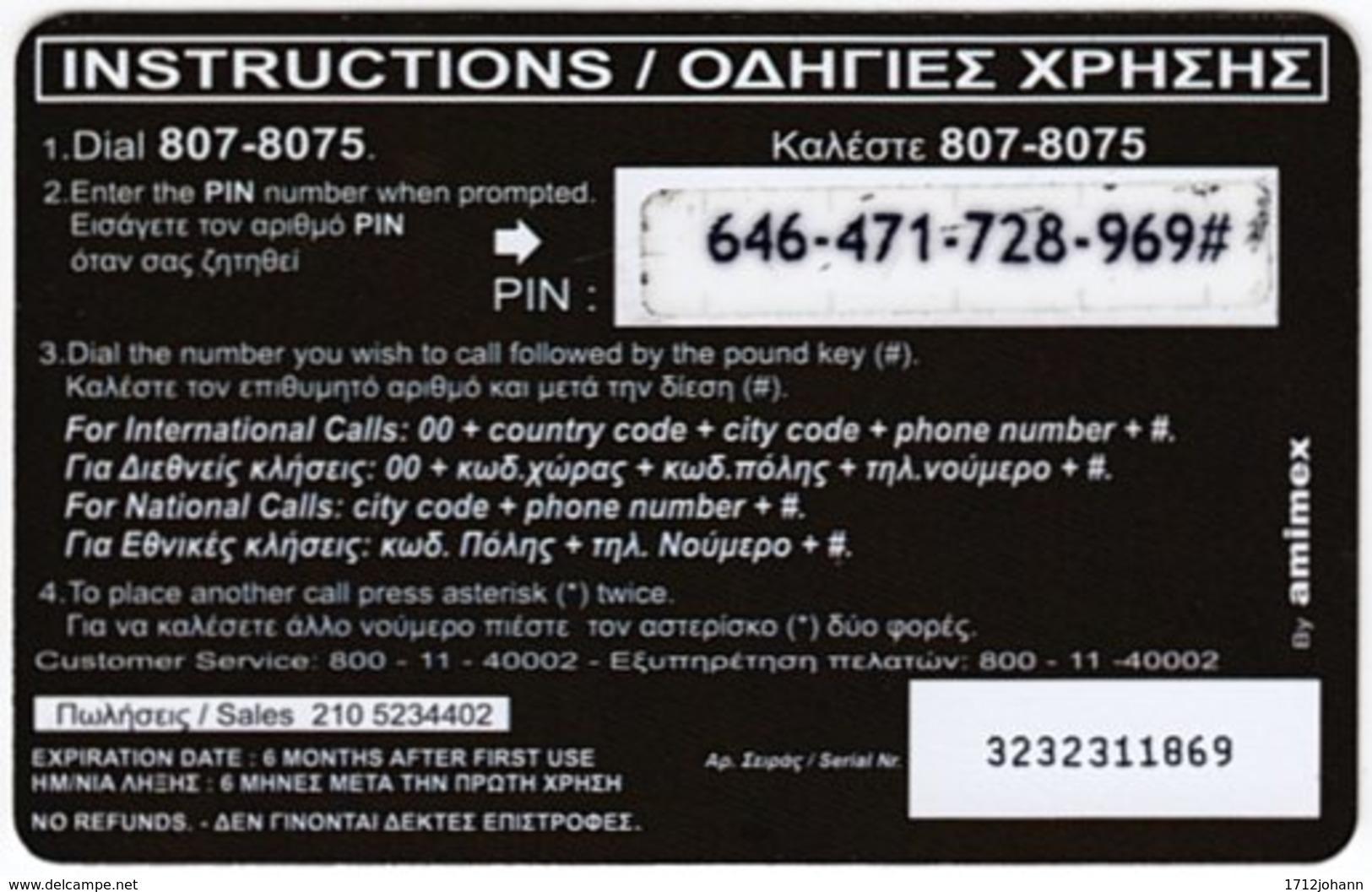 GREECE F-802 Prepaid Amimex - Flag Of Ireland - Used - Griechenland