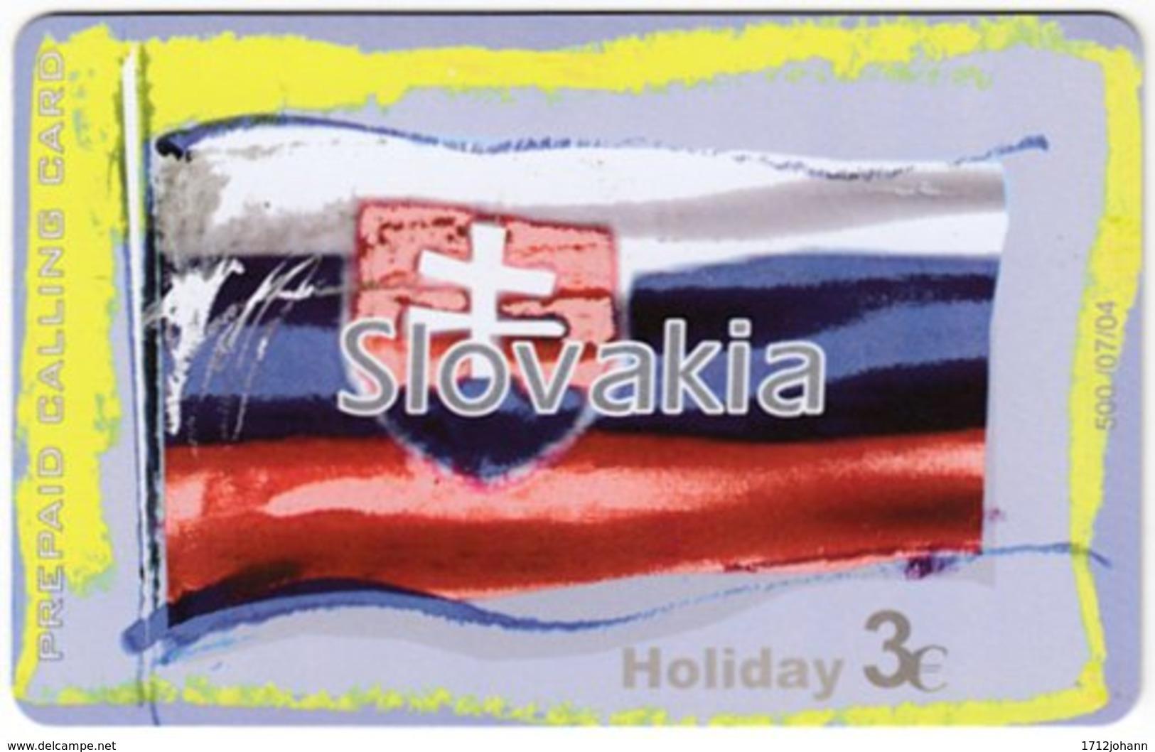 GREECE F-803 Prepaid Amimex - Flag Of Slovakia - Used - Griechenland