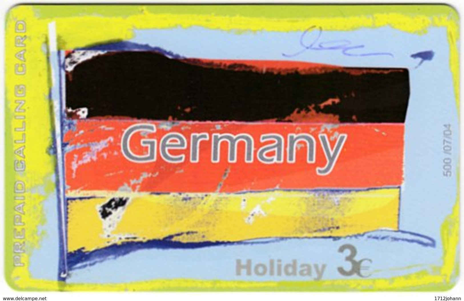 GREECE F-804 Prepaid Amimex - Flag Of Germany - Used - Griechenland