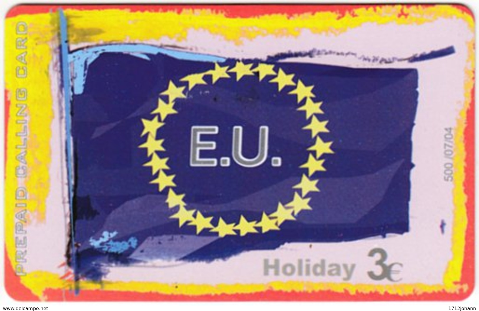 GREECE F-806 Prepaid Amimex - Flag Of European Union - Used - Griechenland