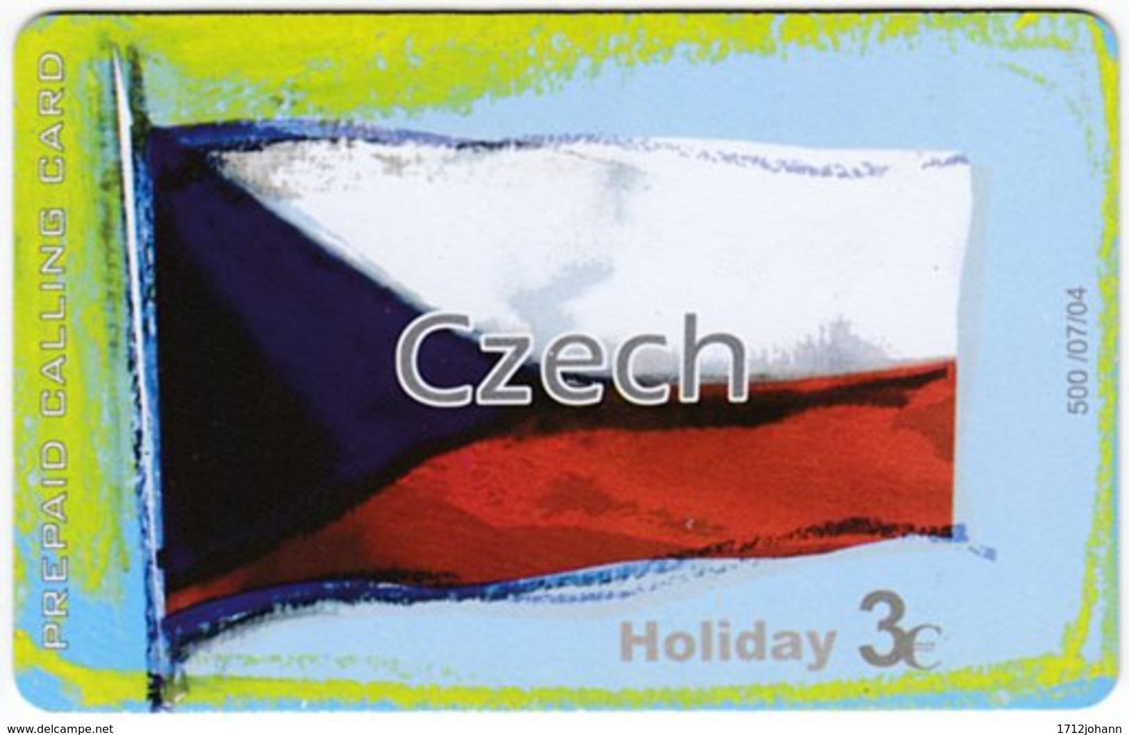GREECE F-808 Prepaid Amimex - Flag Of Czech Republik - Used - Griechenland