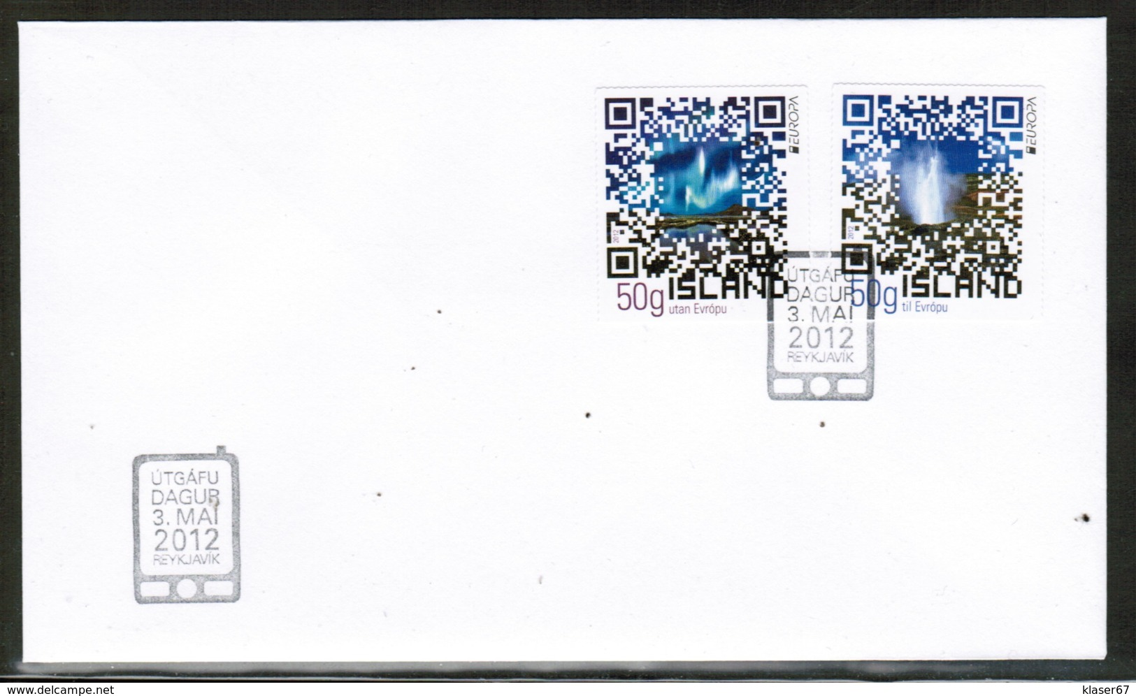 CEPT 2012 IS MI 1361-62 ICELAND FDC - 2012