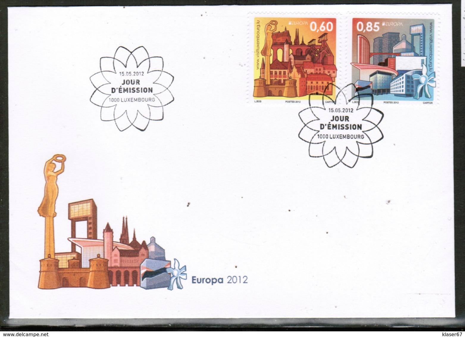 CEPT 2012 LU MI 1943-44 LUXEMBOURG FDC - 2012