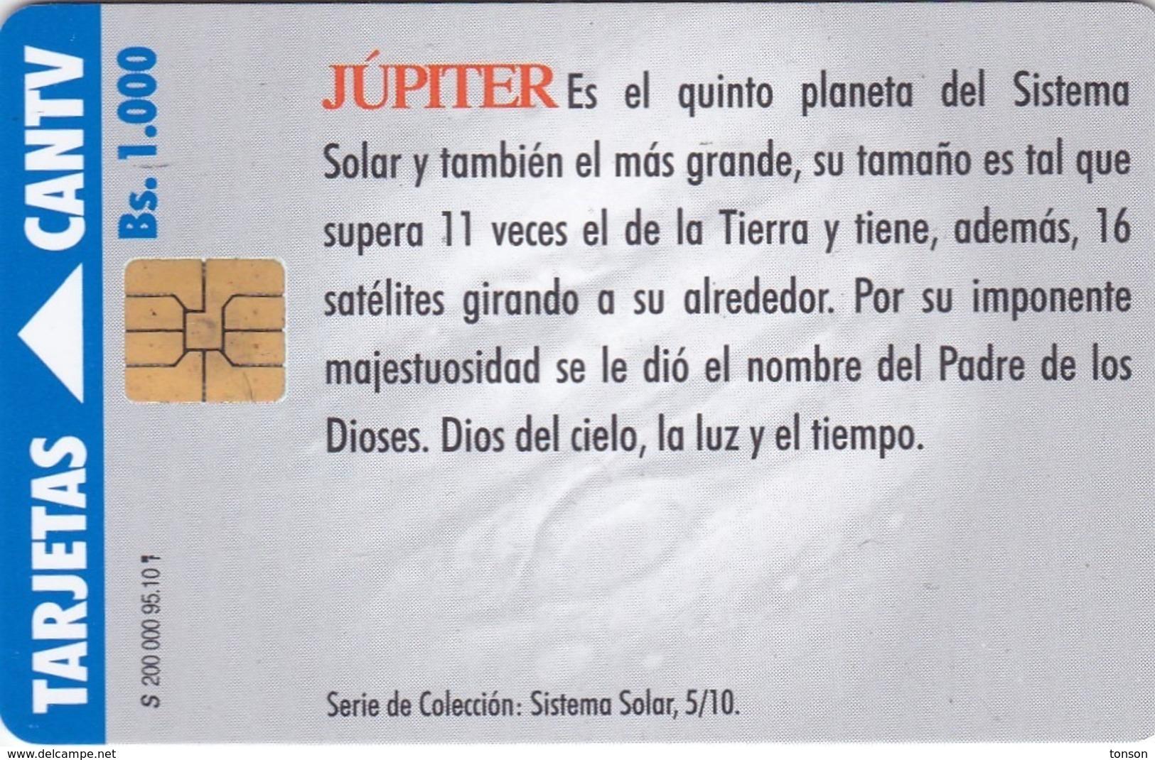 Venezuela, CAN2-0093a, Jupiter  5/10, 2 Scans.   Big Control Number On The Pictorial Side. - Venezuela