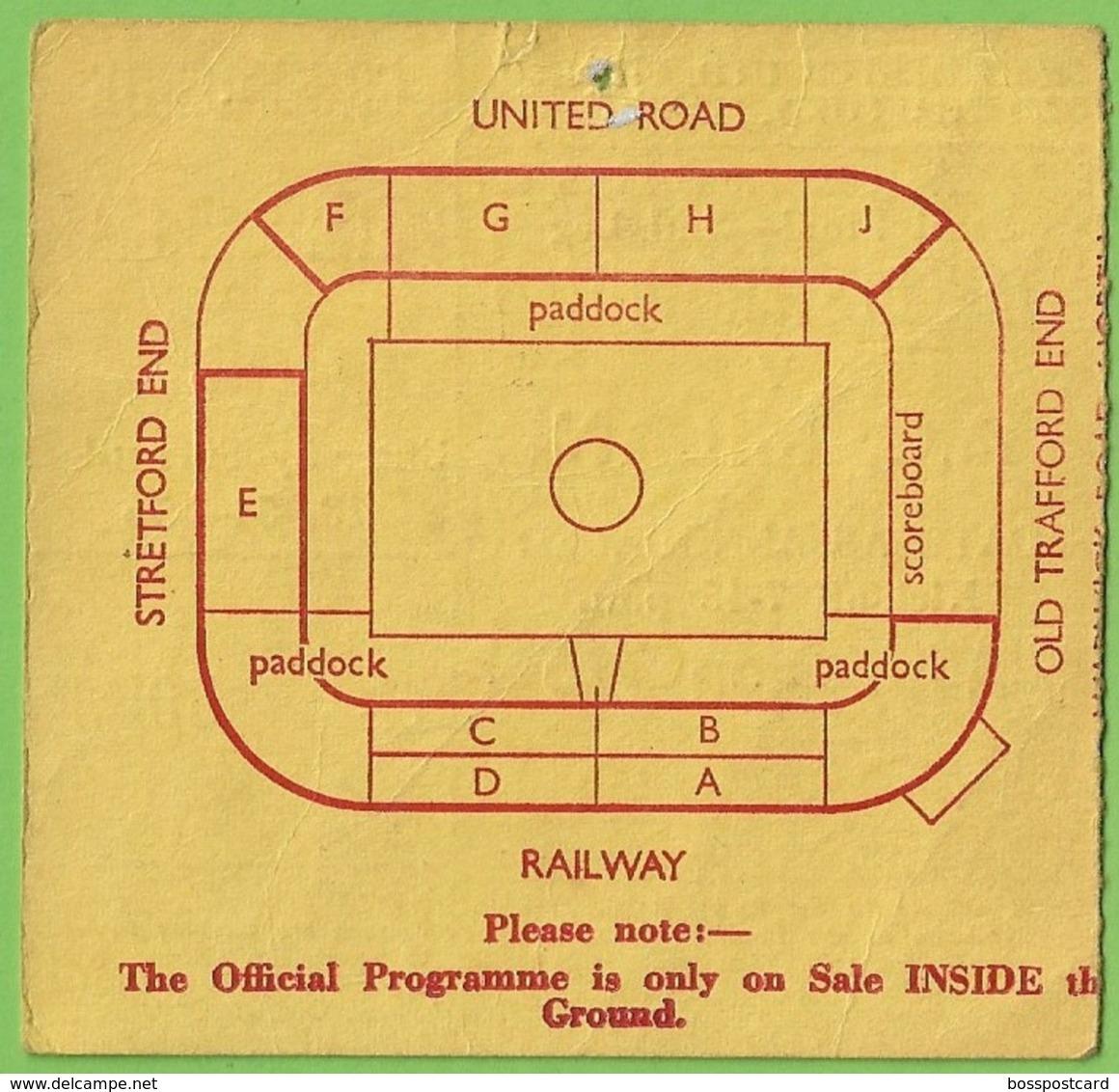 European Champions Club Cup Manchester United - A. C. Milan 1969 Ticket Football Biglietto Calcio Milano England Italia - Tickets - Entradas
