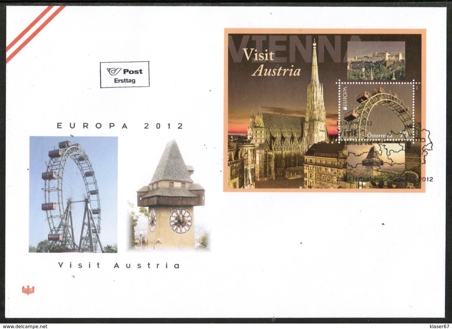 CEPT 2012 AT MI BL 69 AUSTRIA FDC - 2012