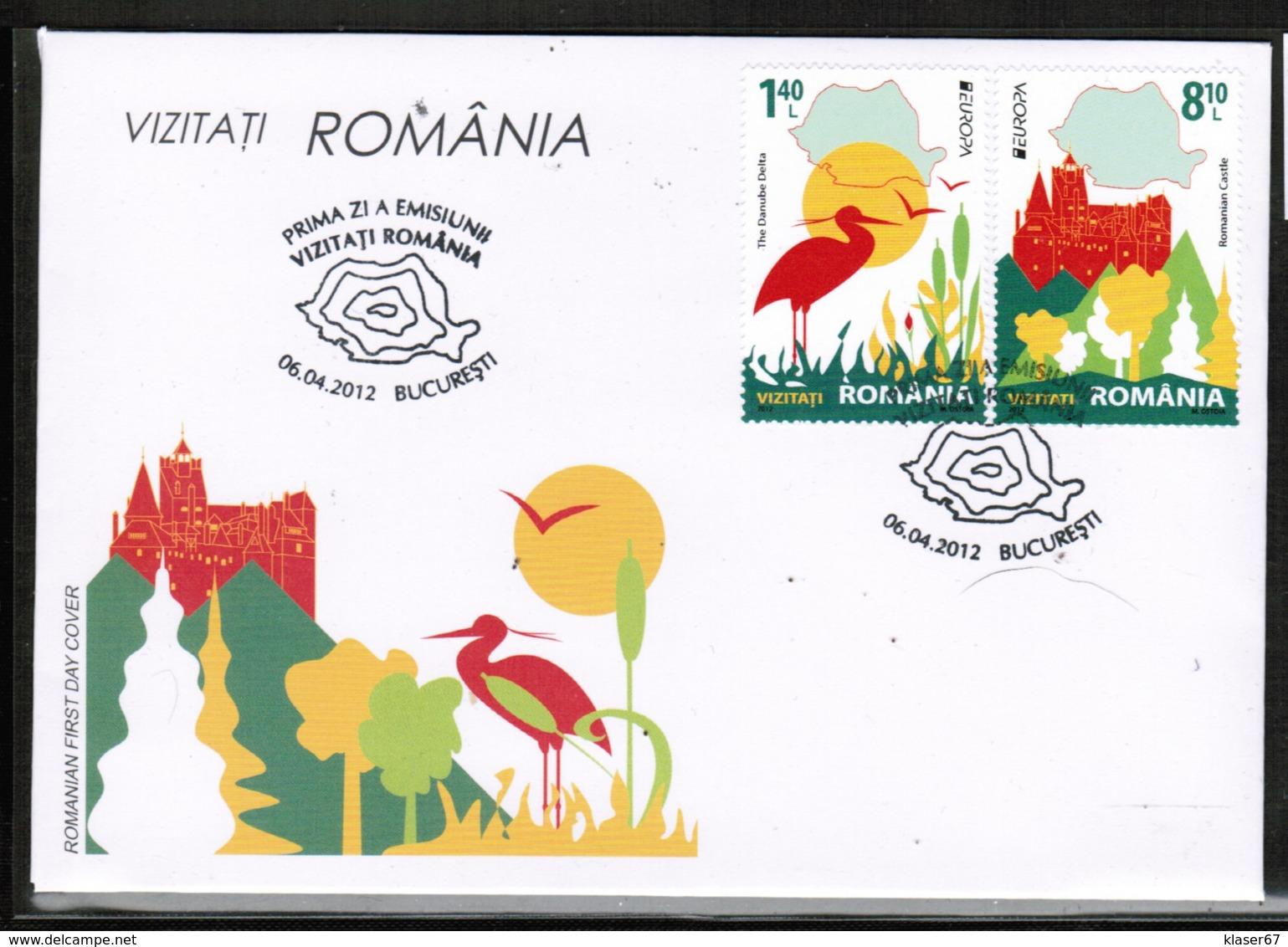 CEPT 2012 RO MI 6617-18  ROMANIA FDC - Europa-CEPT