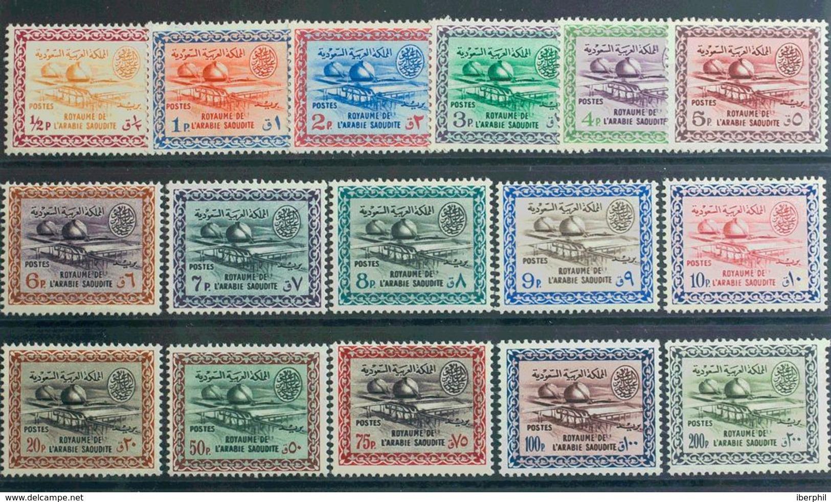 Arabia Saudita. MNH **Yv 178/93. 1961. Serie Completa. MAGNIFICA Y RARA. Yvert 2011: 320 Euros. - Arabia Saudita