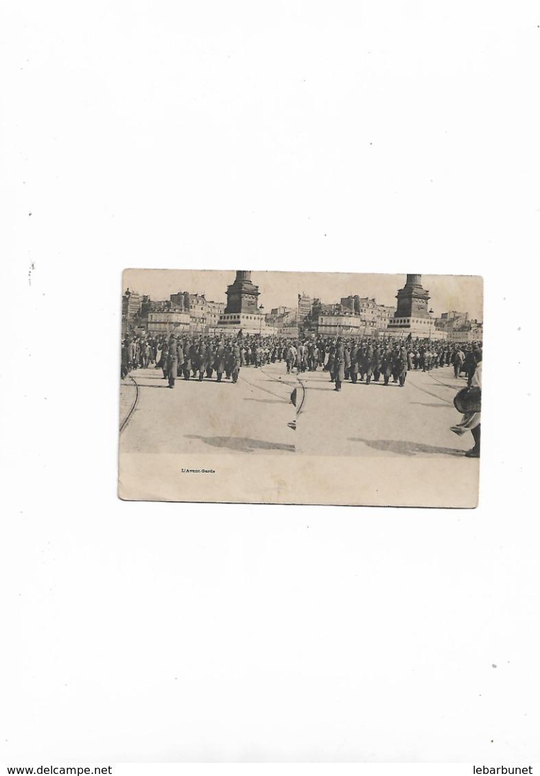 Carte Postale Ancienne Stéréoscopique L'Avant-Garde (visite D'Edouard XII ) - Stereoscopische Kaarten