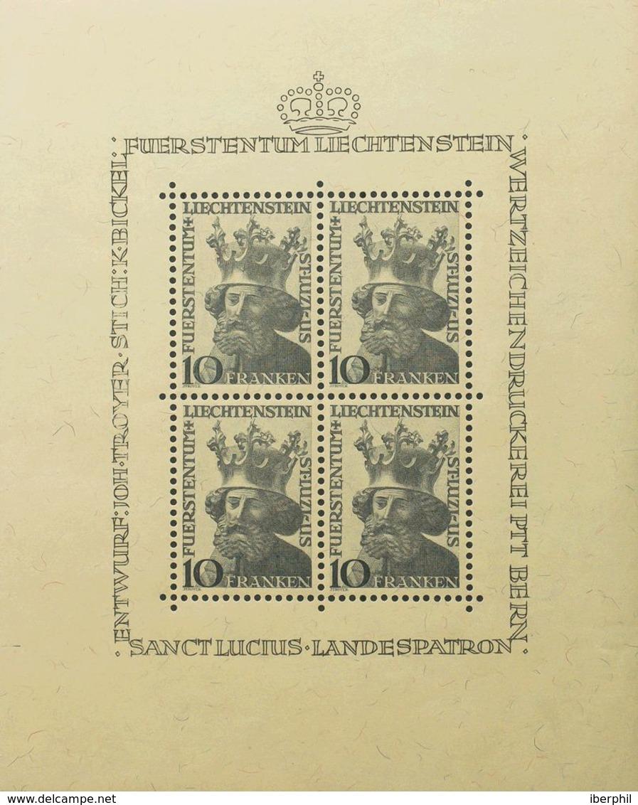 Liechtenstein, Hoja Bloque. MNH **Yv 6. 1946. Hoja Bloque. MAGNIFICA. Yvert 2012: 330 Euros. - Liechtenstein