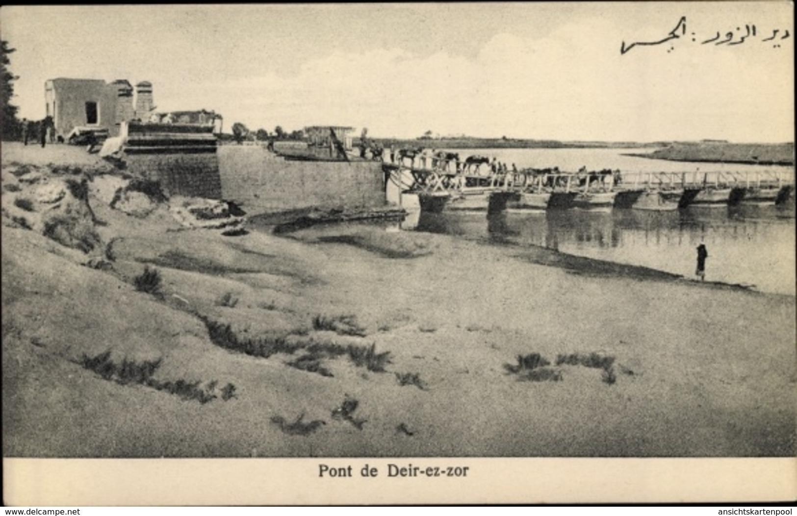 Cp Deir Ez-Zor Syrien, Pont, Chevaux - Syrie