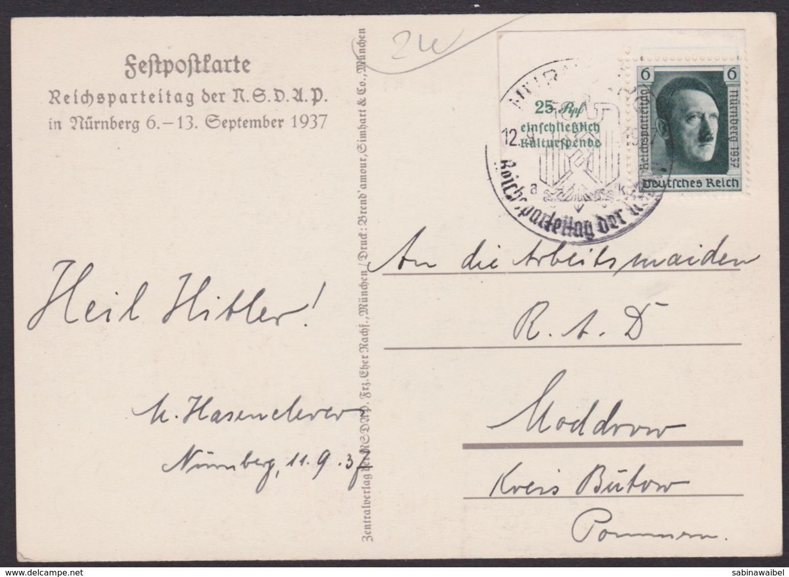 AK Propaganda / Reichs - Parteitag Nürnberg 1937 - Militaria