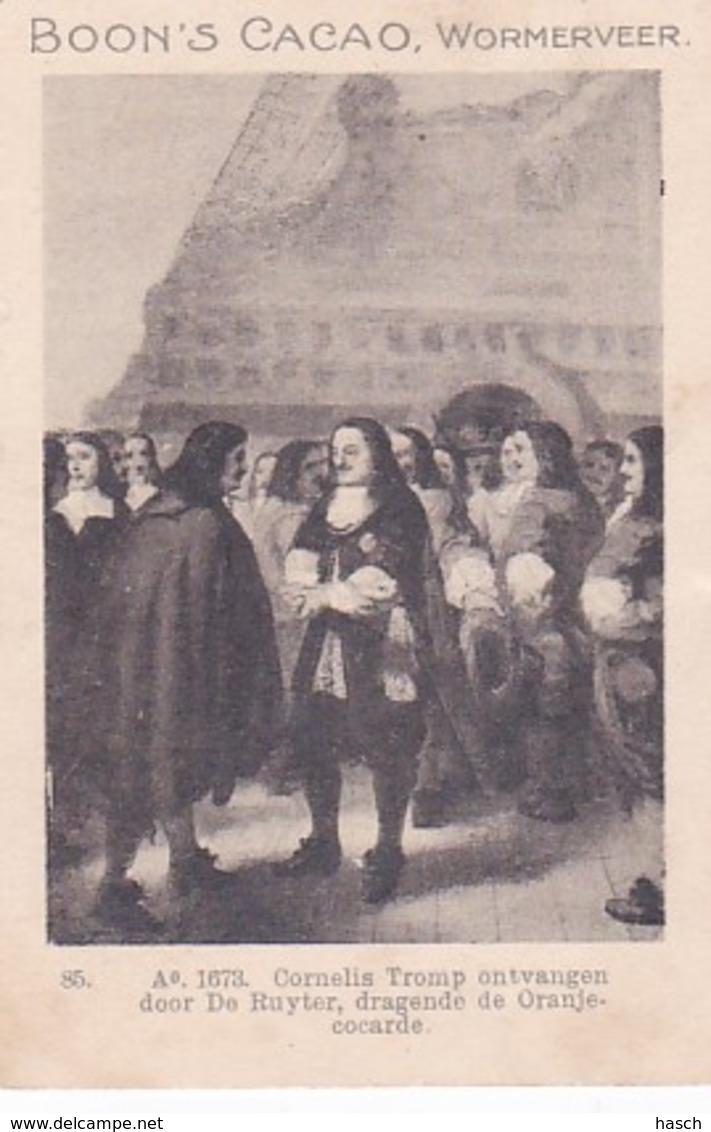 1937123Boon; S Cacao, Wormerveer. Ao. 1673. Cornelis Tromp Ontvangen Door De Ruyter, Dragende De Oranje Cocarde. - Chocolade