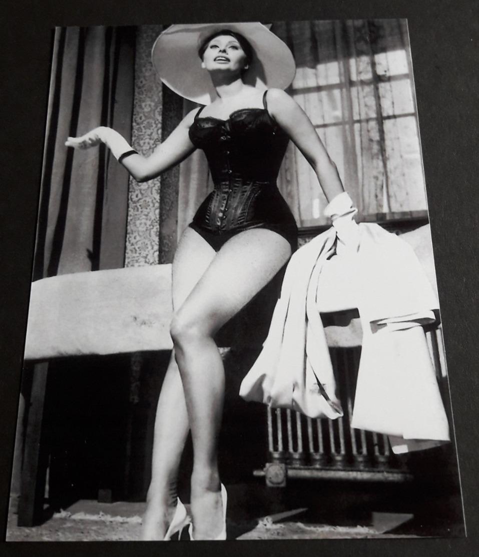 SOPHIA LOREN # Sexy Pin-Up Girl Portrait # Großes Star-Photo, Ca. 13 X 18 Cm # [19-4567] - Fotos