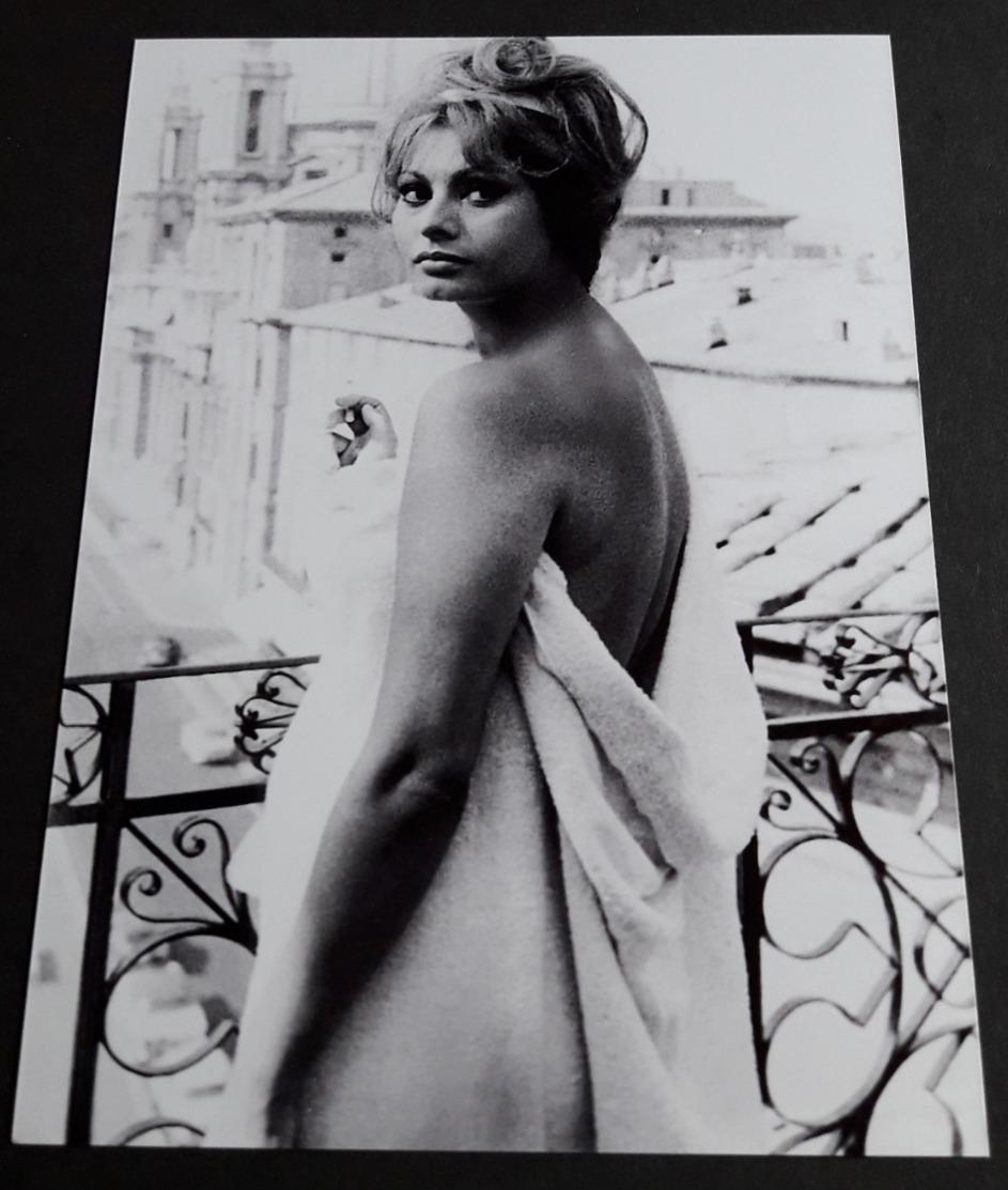 SOPHIA LOREN # Sexy Pin-Up Girl Portrait # Großes Star-Photo, Ca. 13 X 18 Cm # [19-4557] - Fotos