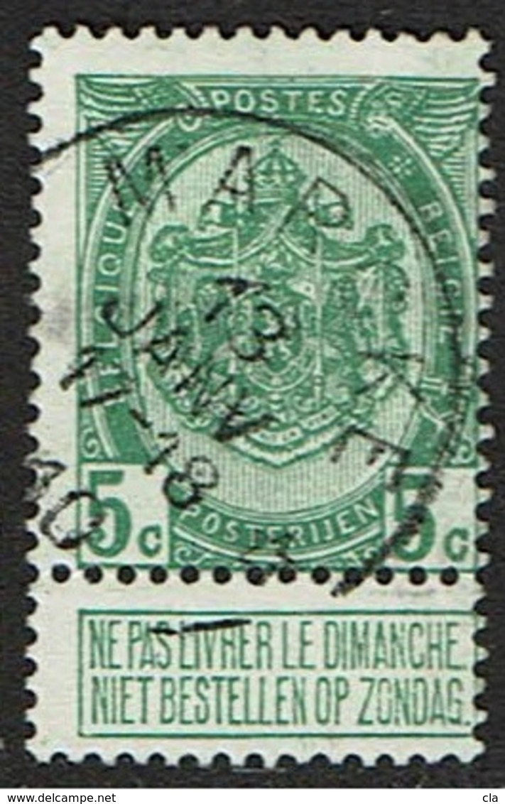 83  Obl Relais  Marcke  + 15 - 1893-1907 Coat Of Arms