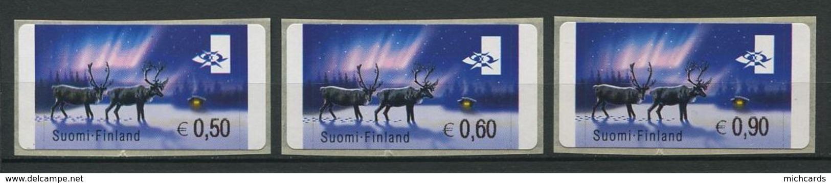 255 FINLANDE 2000/02 - Yvert 31 Distributeur Adhesif - Renne Neige - Neuf ** (MNH) Sans Trace De Charniere - Finland