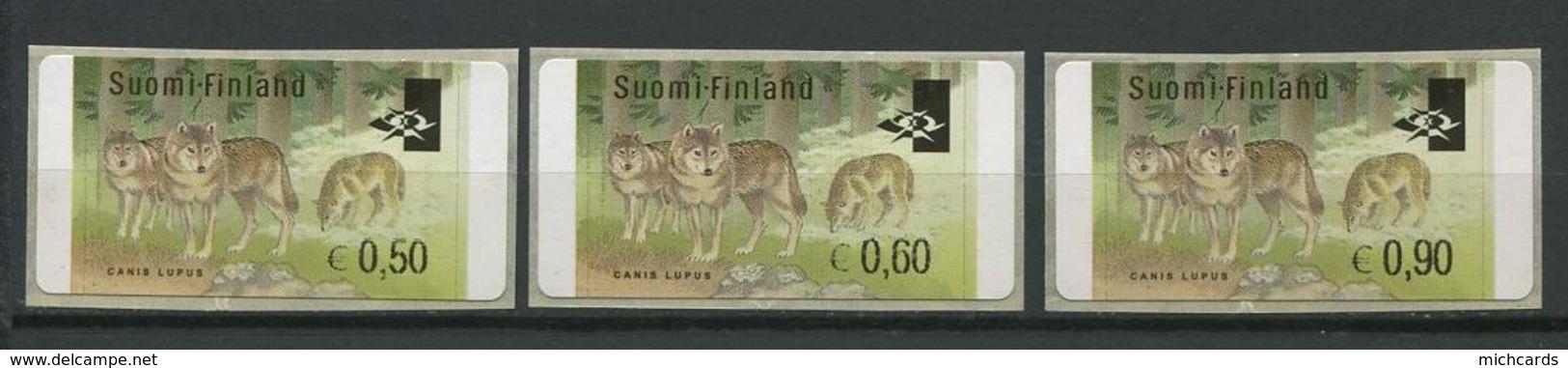 255 FINLANDE 2002 - Yvert 32 Distributeur Adhesif - Loups - Neuf ** (MNH) Sans Trace De Charniere - Finland