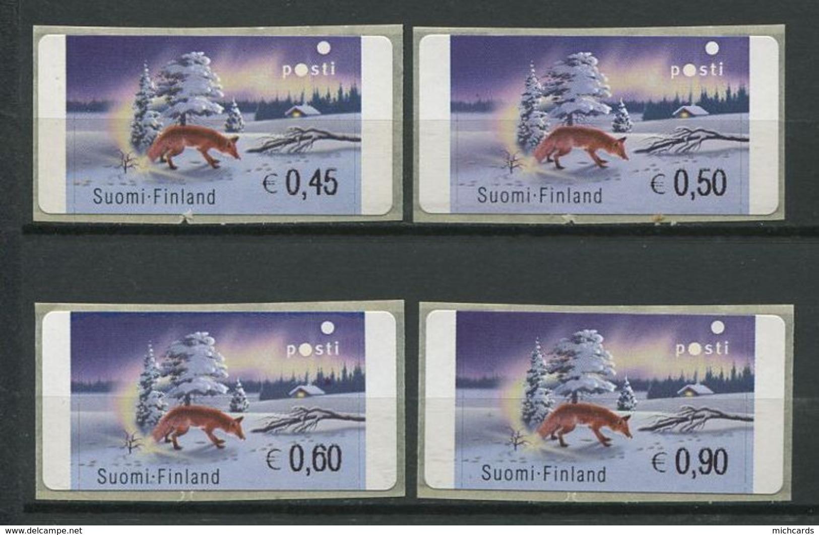 255 FINLANDE 2002 - Yvert 33 Distributeur Adhesif - Renard Neige - Neuf ** (MNH) Sans Trace De Charniere - Finland