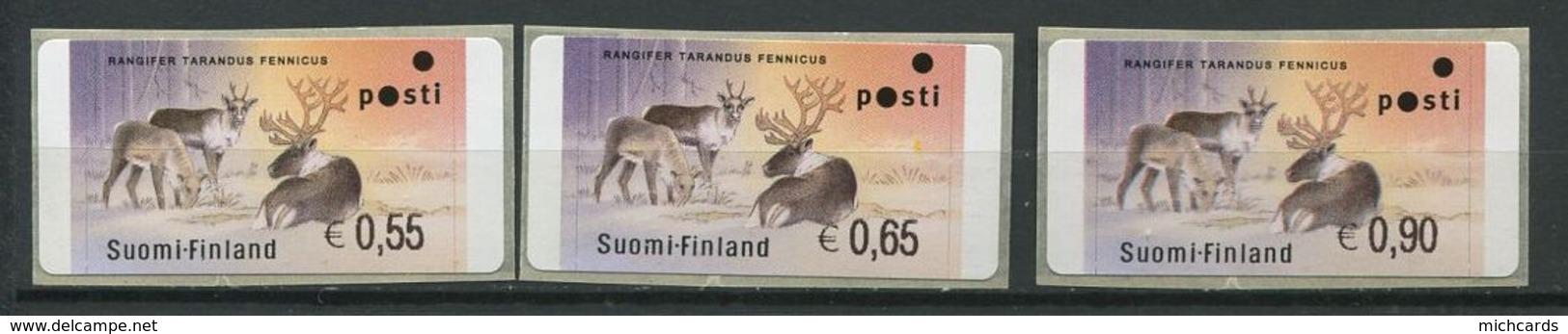 255 FINLANDE 2003 - Yvert 34 Distributeur Adhesif - Renne Sauvage - Neuf ** (MNH) Sans Trace De Charniere - Finland
