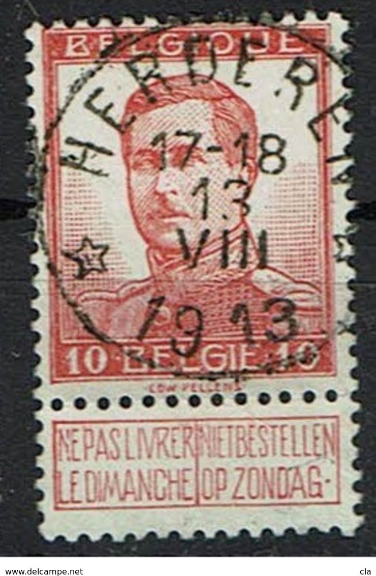 118  Obl Relais  Herderen  + 8 - 1912 Pellens
