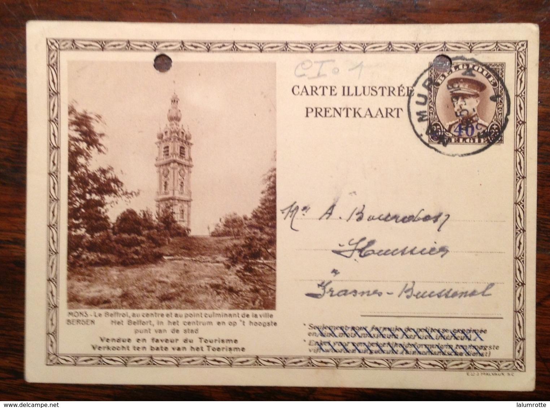 CI. 1. Mons Le Beffroi 1939 - Interi Postali