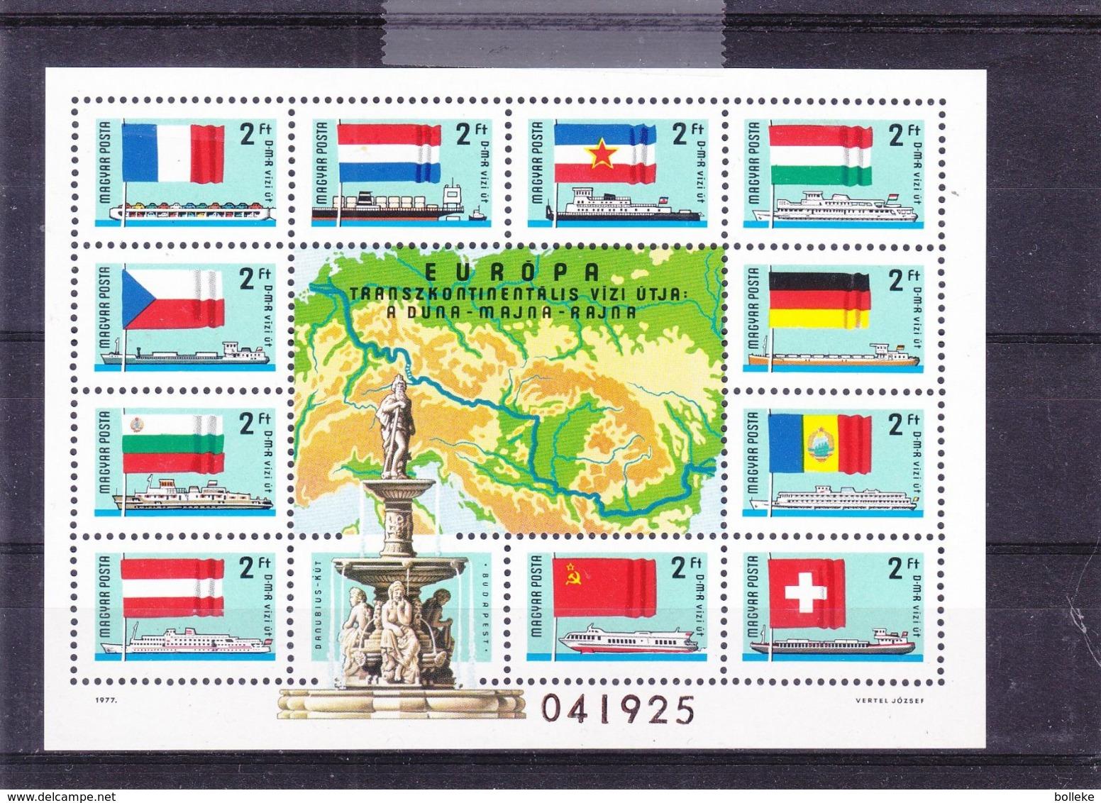 Drapeaux - Hongrie - Yvert BF 134 ** - Bateaux - Idées Européennes - Valeur 25 Euros - Francobolli