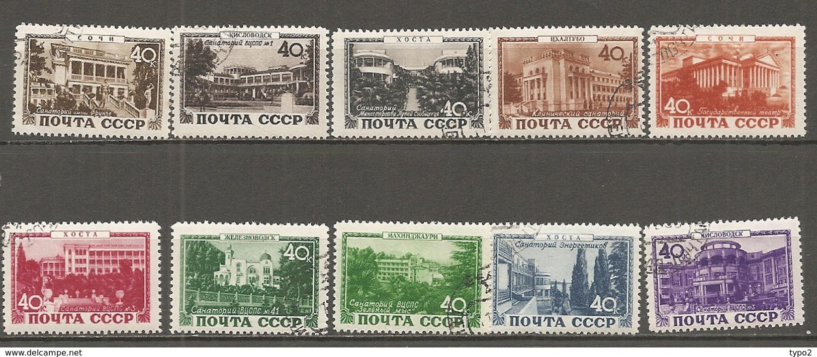 RUSSIE -  Yv N° 1356 à 1346  Complet *  Sanatoriums Cote  3 Euro  BE - 1923-1991 UdSSR