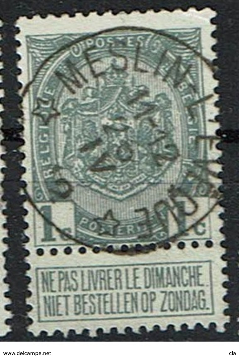 81  Obl Relais Meslin-L'Eveque   15 - 1893-1907 Coat Of Arms