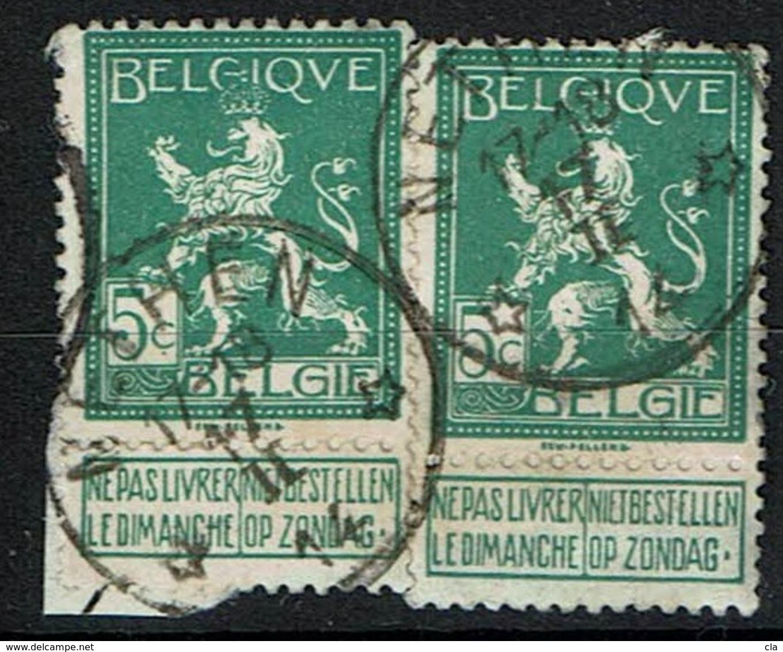 110 X 2  Obl Relais  Nechin  8 X 2 - 1912 Pellens