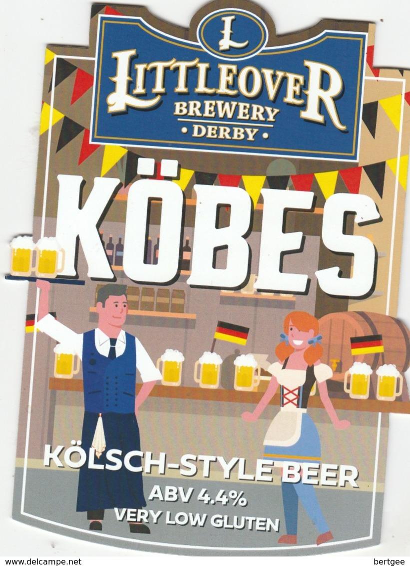 LITTLEOVER BREWERY (DERBY, ENGLAND) - KOBES KOLSCH STYLE BEER - PUMP CLIP FRONT - Uithangborden