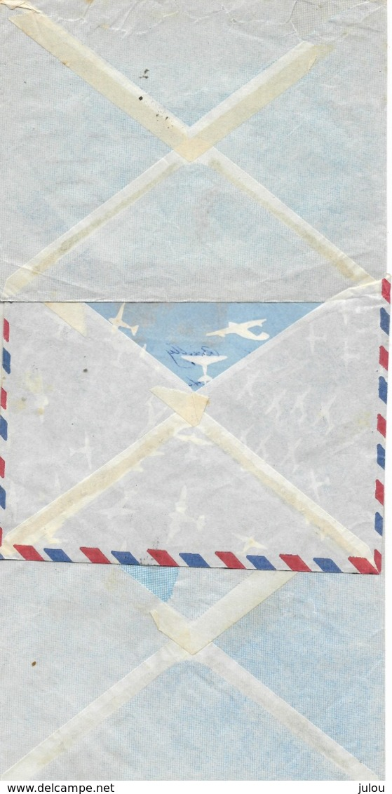 1951- Cachets DIEGO SUAREZ    Sur 3 Enveloppes   Vers La France - Affranchissements Composés  Voir 2 Scans - Madagascar (1889-1960)