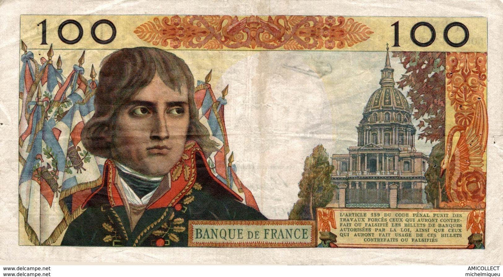 9736 -2019      BILLET 100NF BONAPARTE DU 7-6-1962 - 1959-1966 Neue Francs