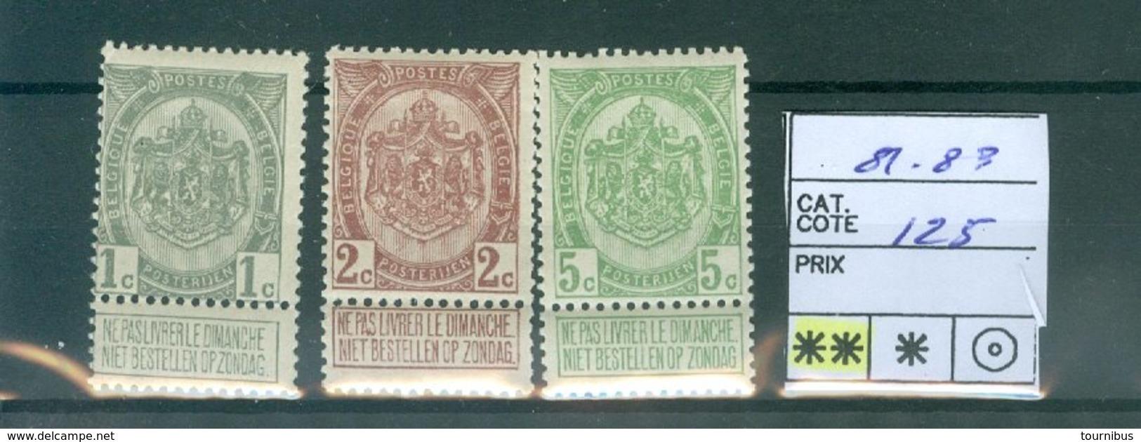 81-83 X  COB 39€ - 1893-1907 Coat Of Arms
