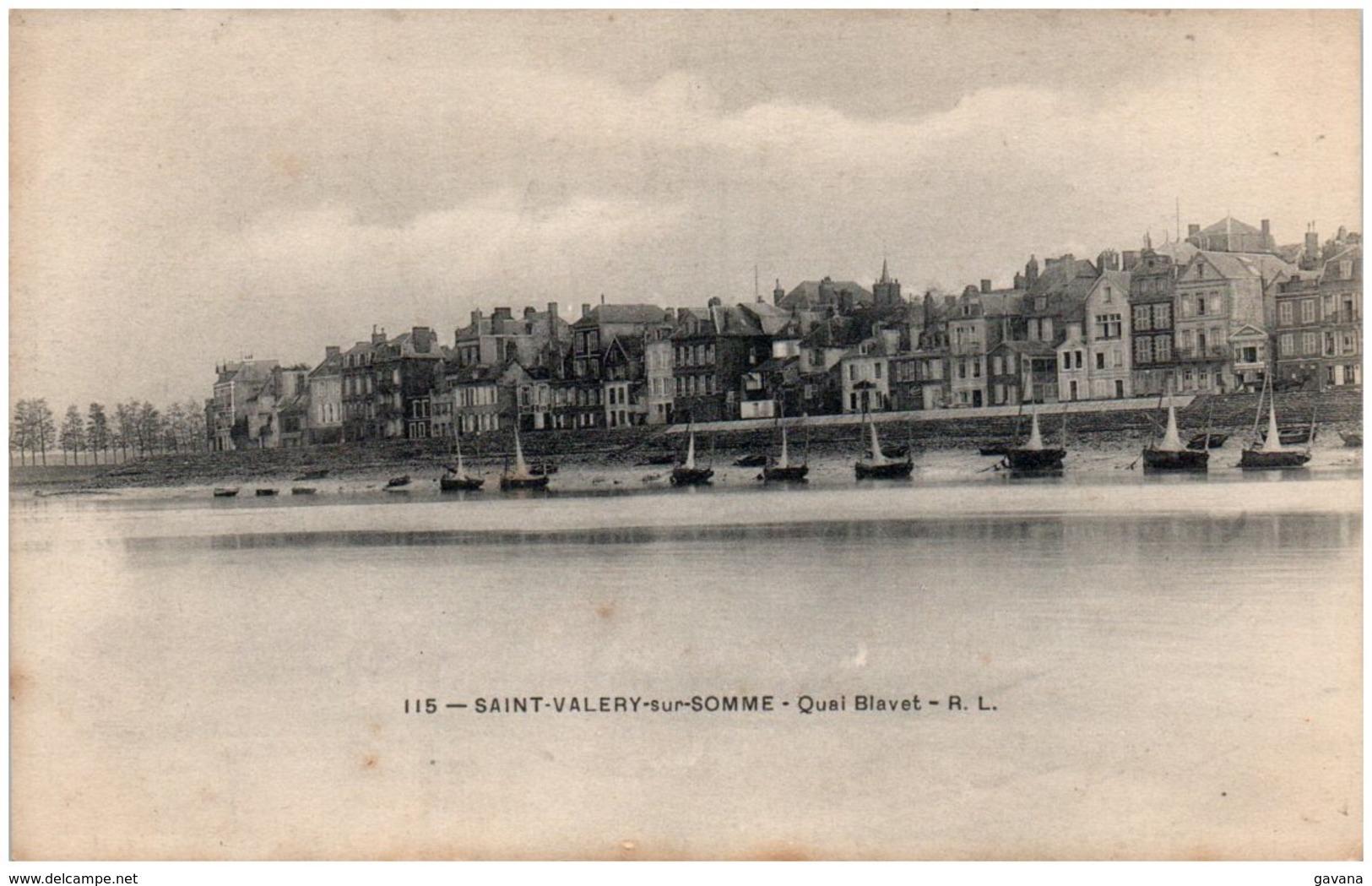 80 SAINT-VALERY-sur-SOMME - Quai Blavet - Saint Valery Sur Somme