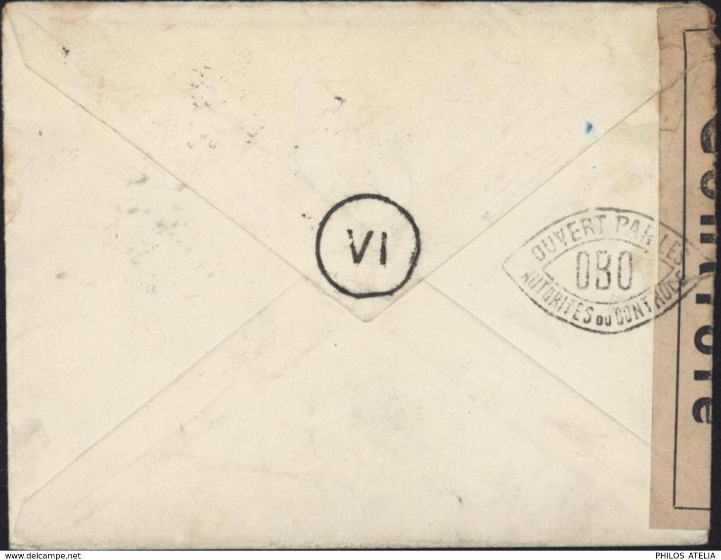 """Guerre 39 Censure Bande """"contrôlé"""" Cachet Ouvert Par Autorité Contrôle OBO Deloste P86 N°38 Digne CAD Manosque 16 6 42 - Marcophilie (Lettres)"""