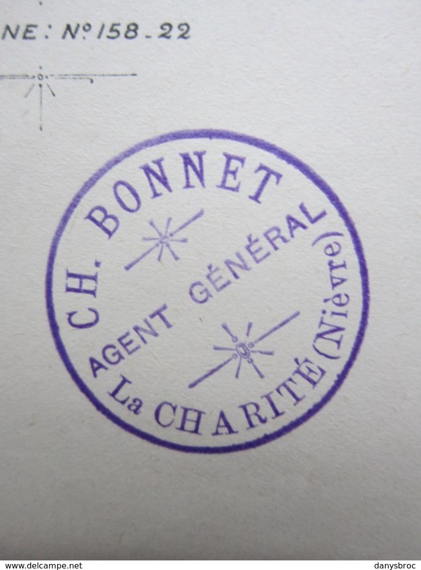 LA PREVOYANCE Cie D'Assurances à Paris, CACHET CH.BONNET à LA CHARITE-SUR-LOIRE (58) Lettre Du 30/08/1900 Signée - Bank & Insurance