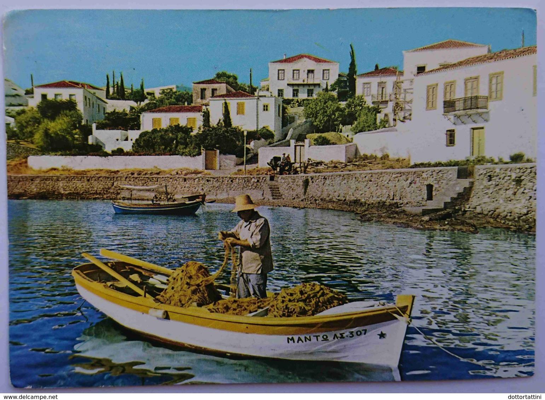 SPETSAE ISLAND - SPETSAI - Greece - Rivage D'Aghios Nicolaos / Seaside - Vg - Grecia