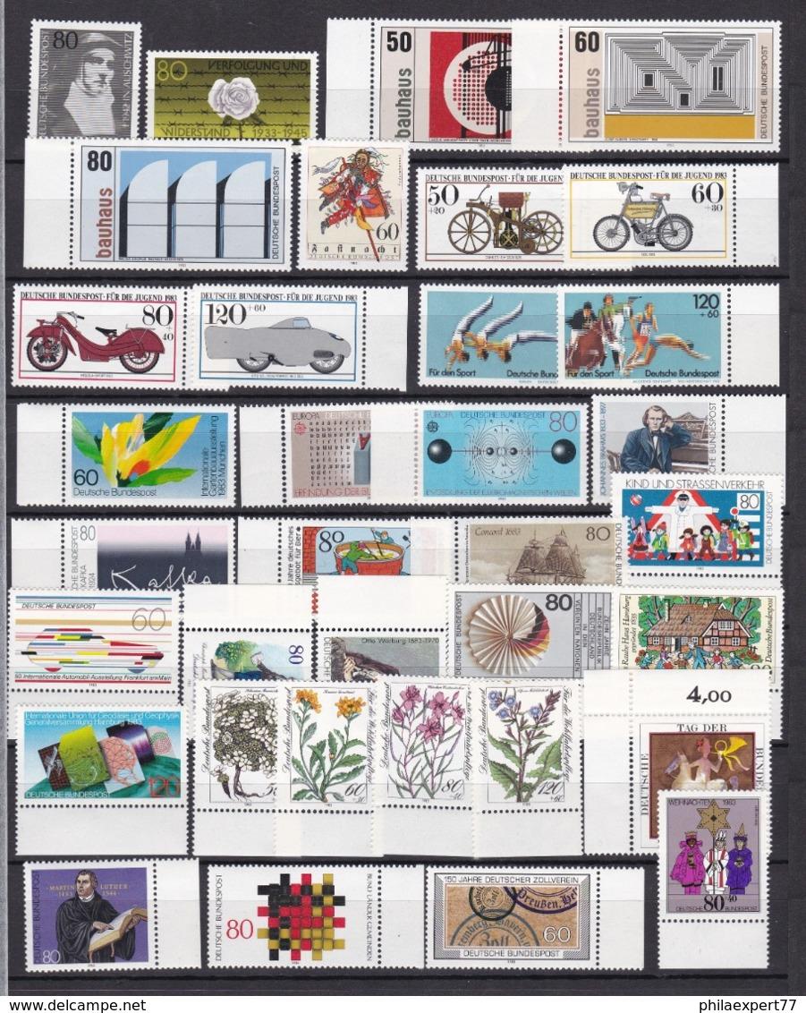 BRD - 1983 - Sammlung - Eckrand - Randstücke - Postfrisch - BRD