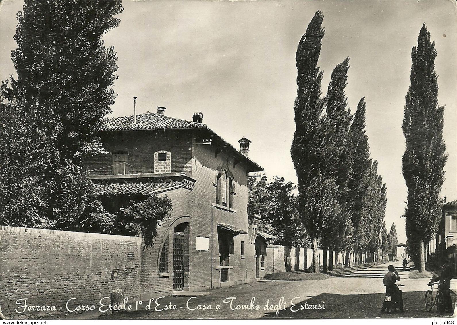 Ferrara (E. Romagna) Corso Ercole 1° D'Este, Casa E Tombe Degli Estensi, Ercole 1° D'Este Avenue - Ferrara