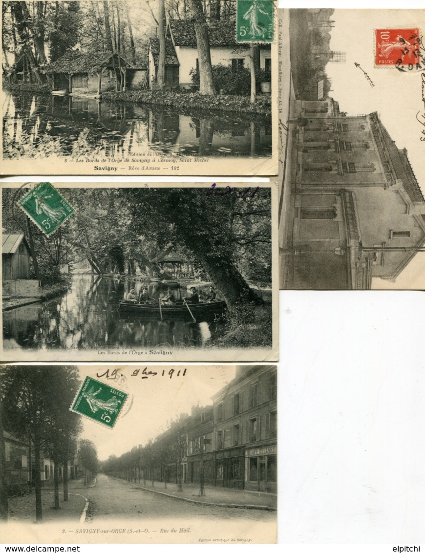 91 Essonne 8 CP 7 Circulées Vendues Franco. - Savigny Sur Orge